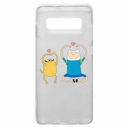 Чохол для Samsung S10+ Adventure time