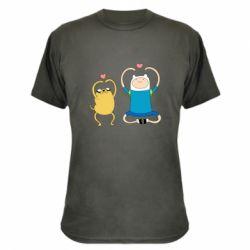 Камуфляжна футболка Adventure time