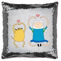 Подушка-хамелеон Adventure time