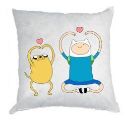 Подушка Adventure time
