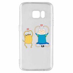 Чохол для Samsung S7 Adventure time
