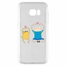 Чохол для Samsung S7 EDGE Adventure time