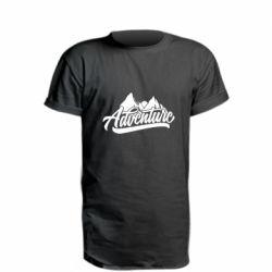 Удлиненная футболка Adventures and mountains