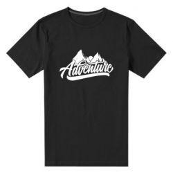 Мужская стрейчевая футболка Adventures and mountains
