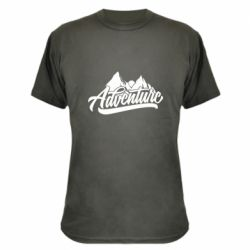 Камуфляжная футболка Adventures and mountains
