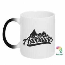 Кружка-хамелеон Adventures and mountains
