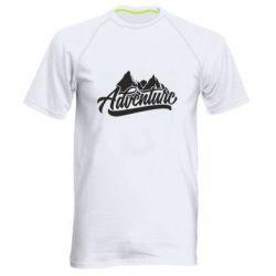 Мужская спортивная футболка Adventures and mountains