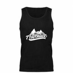Мужская майка Adventures and mountains