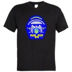 Мужская футболка  с V-образным вырезом Аеромобільні десантні війська - FatLine