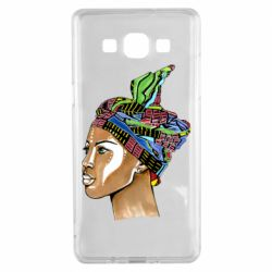 Чохол для Samsung A5 2015 African girl in a color scarf