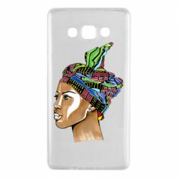 Чохол для Samsung A7 2015 African girl in a color scarf