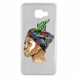 Чохол для Samsung A7 2016 African girl in a color scarf