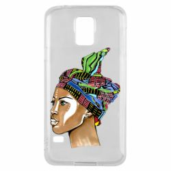 Чохол для Samsung S5 African girl in a color scarf