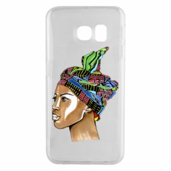 Чохол для Samsung S6 EDGE African girl in a color scarf