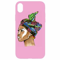 Чохол для iPhone XR African girl in a color scarf