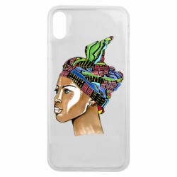 Чохол для iPhone Xs Max African girl in a color scarf