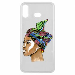 Чохол для Samsung A6s African girl in a color scarf