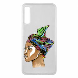 Чохол для Samsung A7 2018 African girl in a color scarf