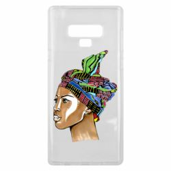 Чохол для Samsung Note 9 African girl in a color scarf