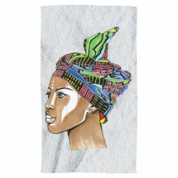 Рушник African girl in a color scarf