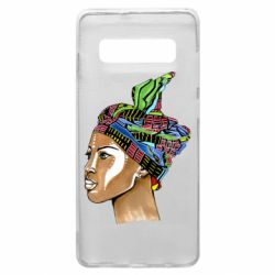 Чохол для Samsung S10+ African girl in a color scarf