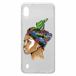 Чохол для Samsung A10 African girl in a color scarf