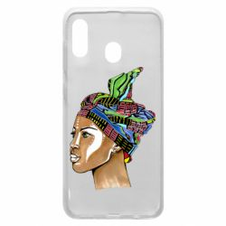 Чохол для Samsung A20 African girl in a color scarf