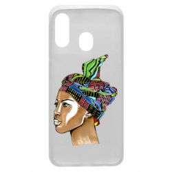 Чохол для Samsung A40 African girl in a color scarf
