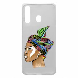 Чохол для Samsung A60 African girl in a color scarf