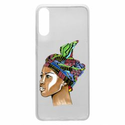 Чохол для Samsung A70 African girl in a color scarf
