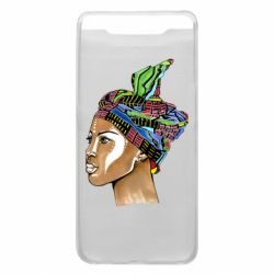 Чохол для Samsung A80 African girl in a color scarf