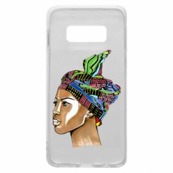 Чохол для Samsung S10e African girl in a color scarf