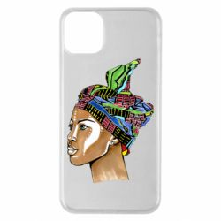 Чохол для iPhone 11 Pro Max African girl in a color scarf
