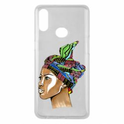 Чохол для Samsung A10s African girl in a color scarf