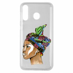 Чохол для Samsung M30 African girl in a color scarf