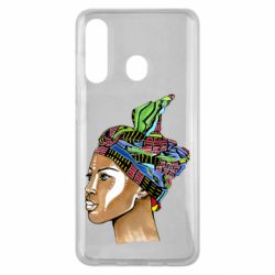 Чохол для Samsung M40 African girl in a color scarf