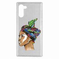 Чохол для Samsung Note 10 African girl in a color scarf