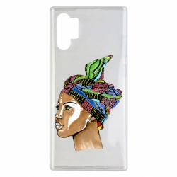 Чохол для Samsung Note 10 Plus African girl in a color scarf