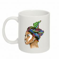 Кружка 320ml African girl in a color scarf