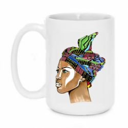 Кружка 420ml African girl in a color scarf