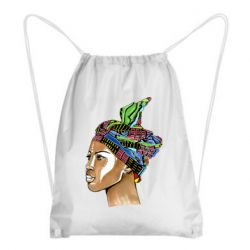 Рюкзак-мішок African girl in a color scarf