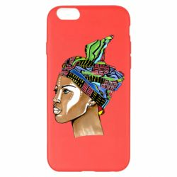 Чохол для iPhone 6 Plus/6S Plus African girl in a color scarf