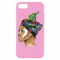 Чохол для iPhone 7 African girl in a color scarf