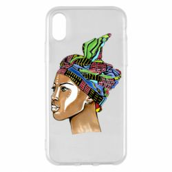 Чохол для iPhone X/Xs African girl in a color scarf