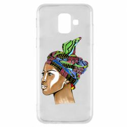 Чохол для Samsung A6 2018 African girl in a color scarf