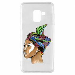 Чохол для Samsung A8 2018 African girl in a color scarf