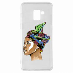 Чохол для Samsung A8+ 2018 African girl in a color scarf