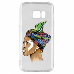 Чохол для Samsung S7 African girl in a color scarf