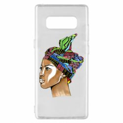 Чохол для Samsung Note 8 African girl in a color scarf