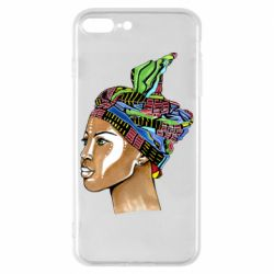 Чохол для iPhone 8 Plus African girl in a color scarf